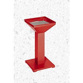 Standascher quadratisch, rot