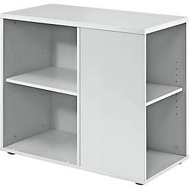 Standcontainer JENA, B 400 x T 800 x H 720 mm, lichtgrau