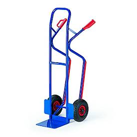 Stapelkarre mit Treppenrutschkufen, große Schaufel, Vollgummi-Bereifung