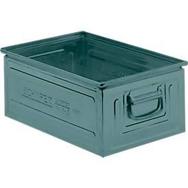Stapelkasten Serie 14/6-2, aus Stahl, Inhalt 25 L, ideal f. schwere Güter, lackiert