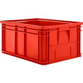 Stapelkasten Serie 14/6-1, aus Polyethylen, mit Griffmulde, Inhalt 71 L