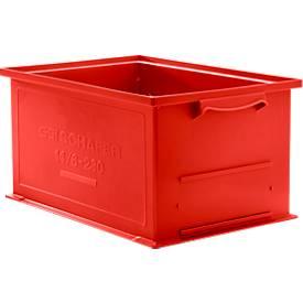 Stapelkasten Serie 14/6-230, aus Polypropylen, mit Griffmulde, Inhalt 26 L