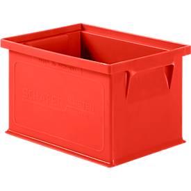 Stapelkasten Serie 14/6-4, aus Polypropylen, mit Griffmulde, Inhalt 2,5 L