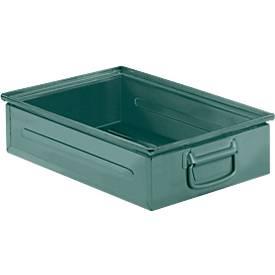 Stapelkasten Serie ST14/6-2H, aus Stahl, Inhalt 14,2 L, ideal f. schwere Güter, lackiert