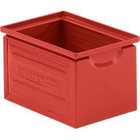 Stapelkasten Serie ST14/6-4, aus Stahl, Inhalt 3,2 L, ideal f. schwere Güter, rot