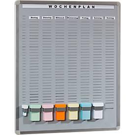 Stecktafel T-Card System inkl. Zubehör, 605 x 652 mm