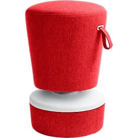 Steh-/Sitzhocker NICK, höhenverstellbar 570 - 900 mm, rot
