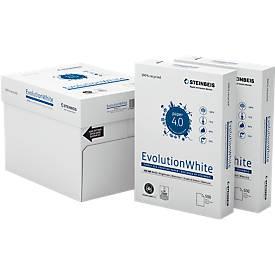 Steinbeis Recyclingpapier EvolutionWhite, A4, 80 g/m², 100er Weiße, 2.500/5.000 Blatt