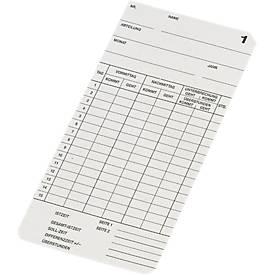 Stempelkaarten BÜRK voor tijdsregistratie K600/K800/K895/K1300, 500 stuks