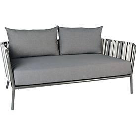 STERN Sofa Space, 2- oder 3-Sitzer, Gestell Aluminium, textile Gurtbespannung