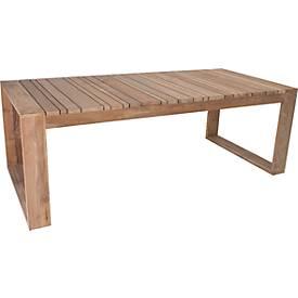 STERN Tisch Max, Old Teak, wetterbeständig für Innen und Außen, mit Kufen
