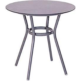 STERN Tisch Space, ø 68 cm, Aluminiumgestell, Tischplatte Silverstar 2.0