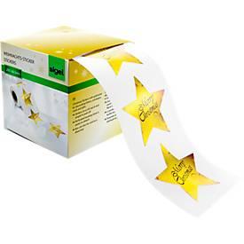 Sticker Christmas Stars, 200 Stück
