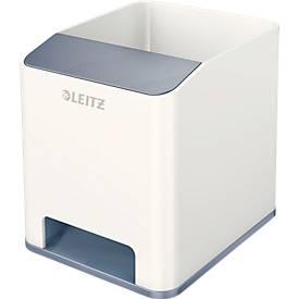 Stiftehalter Leitz WOW Sound, 1 Fach, Smartphone-Fach mit Soundverstärkung