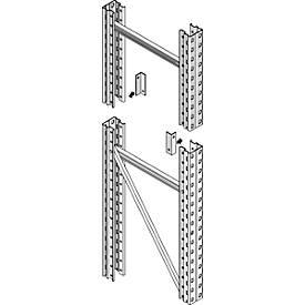 Stirnseitensicherung, f. Rahmentiefe 850 o. 1100 mm, Stützenbreite 75 o. 100 mm