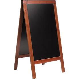 Stoepbord 75x135 cm, mahonie