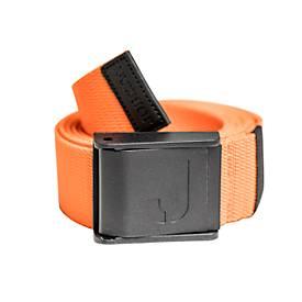 Strechgürtel mit Plastikschnalle schwarz orange 120cm