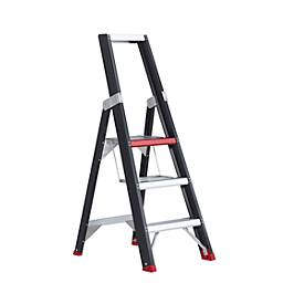 Stufenstehleiter Professional Topline, einseitig, Aluminium