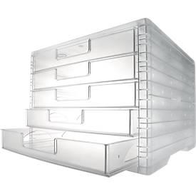 styro® Schubladenbox styro-Light, 5 Schübe, DIN C4