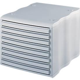 STYRO® Schubladenbox wave, 8 Schübe
