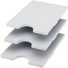 Styrorac tabbl., 3 stuks, grijs
