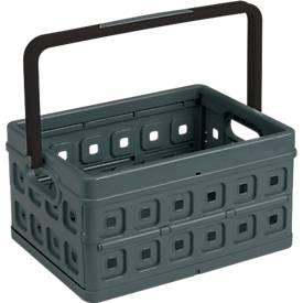 Sunware vouwkist Vierkant, inhoud 24 liter, met handvat, zwart