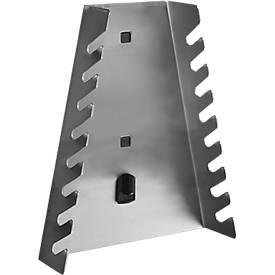 Support clés plates pour système de plaques perforées
