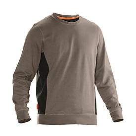 Image of Sweatshirt Jobman 5402 PRACTICAL, mit UV-Schutz, khaki I schwarz, XL