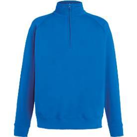 Sweatshirt Lightweight Zip Neck