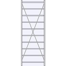 Système de rayonnage à emboîter R 3000, H 2967 mm, 10 tablettes, tablettes galvanisées