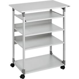 Systeem computer trolley 75 VH grijs