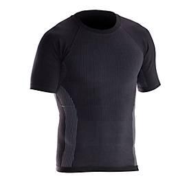 T-Shirt Hautnah grau/schwarz L
