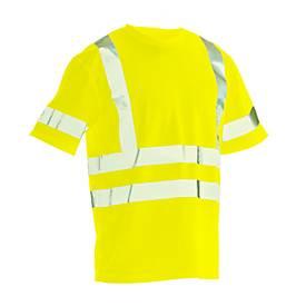 Image of T-Shirt Jobman 5582 PRACTICAL Spun Dye Hi-Vis, EN ISO 20471 Klasse 2/3, PSA 2, gelb, Größe XL