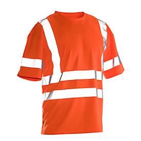 Image of T-Shirt Jobman 5591 PRACTICAL Hi-Vis, 6 Reflektonsstreifen, EN ISO 20471 Klasse 2/3, PSA 2, orange, Größe XS