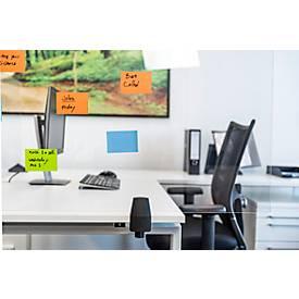 Tafelscheidingswand, gemaakt van acrylglas/polystyreen, helder transparant, dikte 5 mm, B 750 x H 580 mm, geschikt voor in hoogte verstelbare bureautafels
