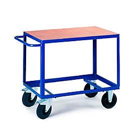 Tafelwagen 1 laadvloer, 1000 x 700 mm, draagvermogen 500 kg, voor productie en werkplaats