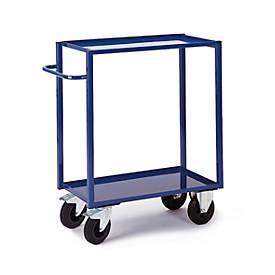 Tafelwagen, 2 laadvloeren/laadplatforms, 895 x 495 mm, draagvermogen 400 kg.