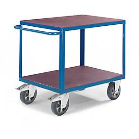 Tafelwagen, 2 legplanken, 1600 x 800 mm, draagvermogen 1000 kg, draagvermogen 1000 kg