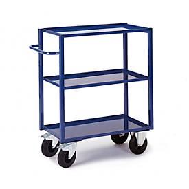 Tafelwagen, 3 laadplatforms, 3 laadplatforms/laadbakken van metaal, 995 x 695 mm, draagvermogen 400 kg.