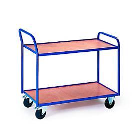 Tafelwagen met 2 legplanken, 790 x 490 mm, 790 x 490 mm