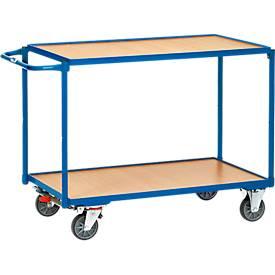 Tafelwagen met 2 legplanken, 850 x 500 mm, 850 x 500 mm