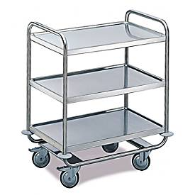 Tafelwagen voor laboratorium en productie, 3 niveaus, 1000 x 600 mm, 1000 x 600 mm