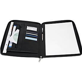 Tagungsmappe, DIN A4 Format, aus Kunstleder, mit Schlaufe und Reißverschluss