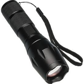 Taschenlampe Gillingham, schwarz, Aluminium, COB-Technologie, Stroboskopfunktion