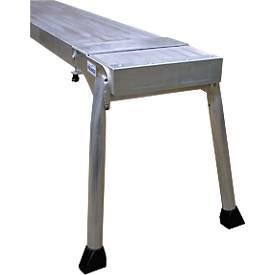 Teleboard, aus Aluminium, Länge  3 Meter, inkl. Board Stand