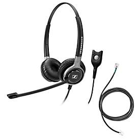 Telefon-Headset Sennheiser SC 660, kabelgebunden, binaural, HD, Ohrpolster, +Adapter CEHS-DHSG