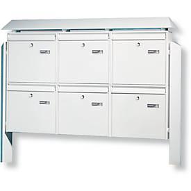 TERZO brievenbussensysteem, 6-delig, zilverkleurig