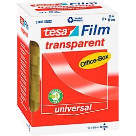 tesa® Film, ø 76 mm, 66 m, transparent