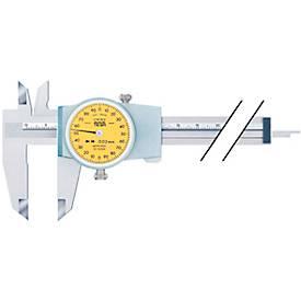 TESA Messschieber mit Rundskale 150 mm Abl. 0,02 mm eine Zeigerumdrehung =2 mm