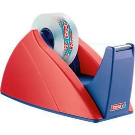 tesa® plakbandafroller Basis, rood/blauw